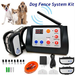 Wireless 2 3 Dog Fence System Containment Electric Remote Training Shock Collar $111.99