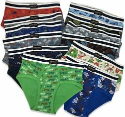 Andrew Scott Boys 12 Pack amp; 18 Pack Cotton 12 Pack Action Prints Size 14 16 $9.99