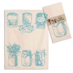 Mason Canning Jars Flowers Kitchen Tea Towel by CTW Home Collection $9.89