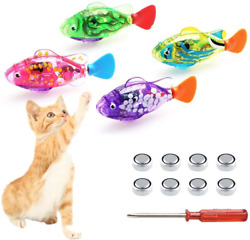 Swimming Robot Fish For Cats Interactive Cat Fish Toys Fish Tank Toy With Led $14.80