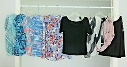 9 Women#x27;s Designer Shirts Tops Blouses LOT All Size Medium EUC