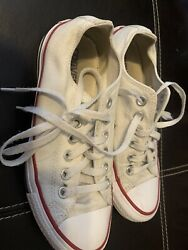 Converse All Star White Canvas Low Sneakers Women Size 7 Men Size 5 US $27.95