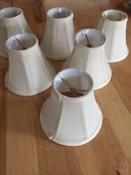 Traditional chandelier shades set of 6 Fabric NICE $10.00