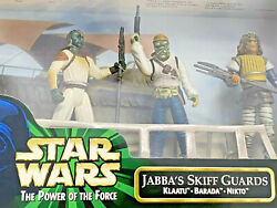 STAR WARS Hasbro 1998 *Jabba#x27;s Skiff Guards* Klaatu Barbada Nikto Sealed New $19.99