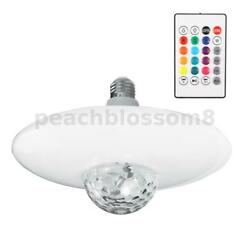 Music LED Ceiling Light RGB bluetooth Speaker Lamp Dimmable W Remote $25.83