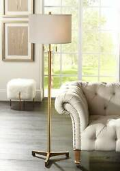 Modern Tripod Floor Lamp Antique Brass Metal for Living Room Reading Bedroom $199.99
