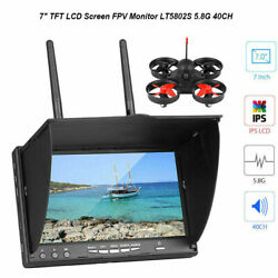 7quot; TFT LCD Screen FPV Monitor LT5802S 5.8G 40CH LED Backlight for RC UAV Drone $84.45