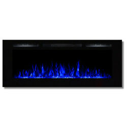 Regal FlameFusion 50quot; Built In Ventless Heater Recessed Wall Fireplace Crystal $624.95