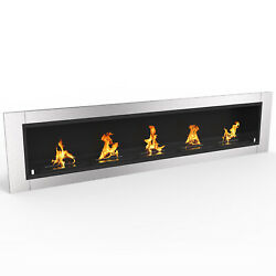 Regal FlameCambridge 70.9quot; Ventless Built Recessed Bio Ethanol Wall Fireplace $999.99
