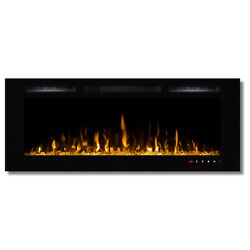 Regal FlameFusion 50quot;Built In Ventless Heater Recessed Wall Fireplace $599.99