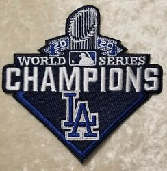 LA Dodgers 2020 World Series Iron On Sew On 4quot; Embroidered Patch FREE SHIP $5.95