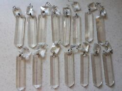 Vintage antique Crystal Glass Prism lot of 15 Chandelier Replacement Part $29.99