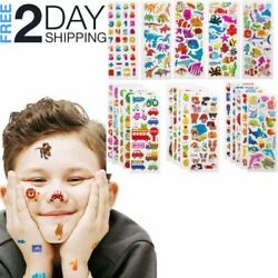 3D Kids Stickers 500Pcs Puffy Scrapbook Journals Letters Numbers Animals Fish $9.99