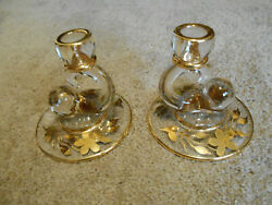 Beautiful antique with gold gilt candle holders 4.75quot; x 4.75quot; $50.00