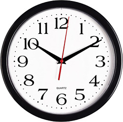 Large Wall Clock Silent Indoor Outdoor Battery Powered Analog For Office Home $15.19