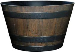Classic Home and Garden S1027D 037Rnew Whiskey Barrel Planter 20.5quot; Kentucky W $33.94