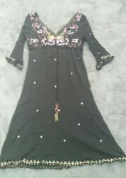 Monsoon Black sequin dress size 14