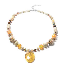 Tiger Eye Beads Necklace Fashion Unique Women Jewelry For Gift Size 30quot; Ct 370