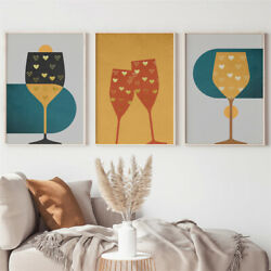 Abstract Wall Art Canvas Painting Living Room Color Contrast Posters Home Decor $11.99