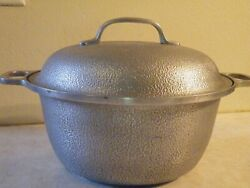 VINTAGE Century Silver Seal Hammered Cast Aluminum Dutch Oven w Lid FREE SHIP $49.99