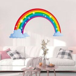 Rainbow Wall Sticker Kids Wall Decal Nursery Home Décor Bedroom Wall Décor $11.00