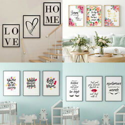 3PCS SET Home Decor Wall Canvas Paintings Bedroom Wall Art Letters Print Posters $11.99