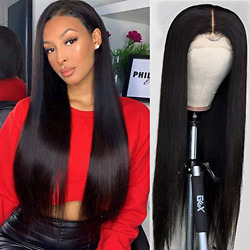RECOOL 10A Straight Lace Front Wigs Human Hair 150% Density For Black Women Hair $110.24