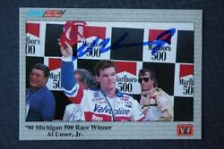 Indy 500 Champion Al Unser Jr. signed autographed 1991 A amp; S Racing card # 45 $7.99