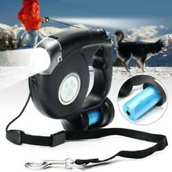 Pet Dog Retractable Extendable Leash Lead 4.5M with LED Light amp; Garbage Bag $19.20