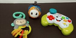 Bundle Of Infant Toys. Monkey Rattle Helicopter Game Controller. $15.00