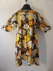 In Hawaii For Dole Uniform Apron Vintage Made In Japan Pineapple Floral Brown $22.49