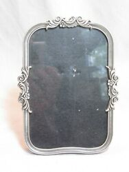 pre owned Fetco home decor picture frame ornate pewter flower scroll detail $8.01