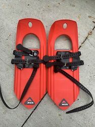 MSR Snowshoes Kids TYKER Winter Shoes with Ice Cleats Snow Shoes Excellent Shape $49.99