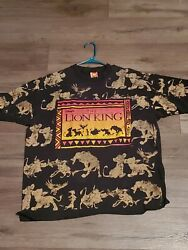 Vintage 90s The Lion King All Over Print Single Stitched OSFA Large See Desc. $125.00