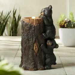 Rustic Outdoor Bubbler Fountain with Light LED 28 1 2quot; for Garden Patio Yard $199.99