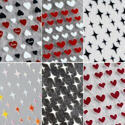 Nail Art 3D Stickers Decals Heart Stars Manicure Adhesive Sticker Tips Decor US $4.49