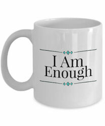 Unique Coffee Mug I Am Enough Motivational Slogan Inspirational Quote Cup With $15.99