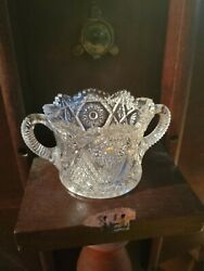 antique crystal glass $30.00