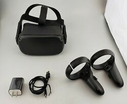 Oculus Quest 128GB All In One VR Virtual Reality Gaming Headset Black Cracked $261.99