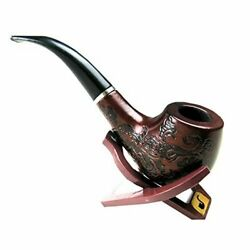 Wooden Pipe Enchase Smoking Pipe Tobacco Cigarettes Cigar Gift $8.99