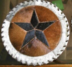 Western Texas Star Hand Laced Cowhide 12X12 Table Top Western Home Decor #510 $29.95