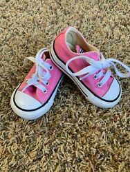 Converse All star Toddler Girls size 4 Infant Pink Low Top $20.00