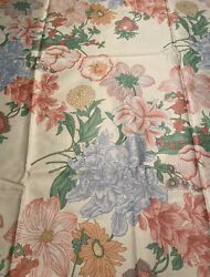 Cohama Riverdale Large Scale Floral Fabric Antibes 1985 7 Yards PLEASE READ $59.99