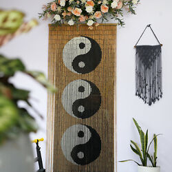Ying yang Bamboo Beaded Curtain for Doorway Window Hanging Room Dividers Decor $58.99