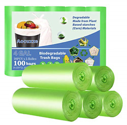 Aocuxze Trash Bags Biodegradable 4 Gallon Small Compostable Bags Recycling amp; $17.22