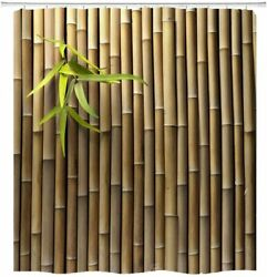 Bamboo 3D Printed Zen Fabric Shower Curtain Sets Bathroom Decor With Hooks $18.66