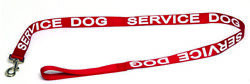 Service Dog Leash Used Red with White Lettering $6.00