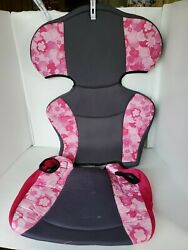 Evenflo Big Kid Sport Booster Car Seat Cover Fabric Padding Replacement Pink $17.00