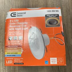 Commercial Electric 6 in. Selectable CCT Integrated LED Recessed Light Trim
