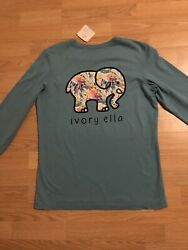 """New """"Ivory Ella"""" Shirt With Long Sleeves Size Small With Tag $19.99"""